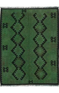 Rugs USA Overdyed KLM646 Green Rug