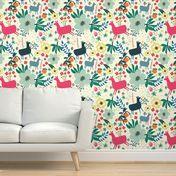 "10"" Alpaca love with oranges - Ivory - Spoonflower Perfect Wallpaper, Wallpaper Roll, Custom Wallpaper, Textured Walls, Bedroom Wall, Installation Art, Abstract Pattern, Creative Business, Custom Fabric"