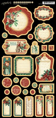 Graphic 45 - A Christmas Carol Collection - Journaling Chipboard,$5.99
