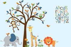 Safari Wall Decal Nursery Wall Decal Jungle by StickItDecalDesigns, $165.00