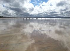 Gwithian, in west Cornwall. After the rain and on a ebb tide...
