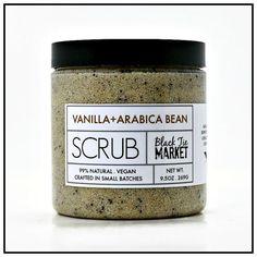 VANILLA  ARABICA BEAN Polishing Sugar Scrub / by theblacktiemarket
