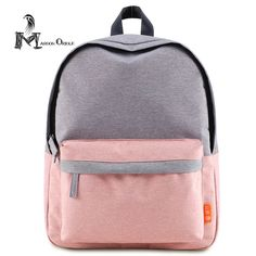 Small pink backpack cute baby pink bag two color contrast women school bag  high quality book d401987a2b