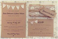 Partecipazioni shabby bandierine. Wedding invitations with lace and flags. #wedding #wedding invitations