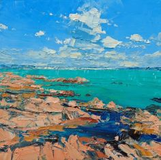Irish Artist Colin CARRUTHERS - Larmour-Plage