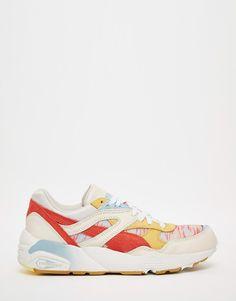 Image 2 of Puma R698 Coastal Leather Sneakers