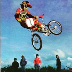 WhipWednesday time. This one goes to @bmxhof member @mrbillbmx. This ones from his Factory CW Racing days I the early 80's. Billy has always been known as a stylish rider in both the air and his look on the track. Billy can still be seen throwin' big whips out on the track like this weekend in Vegas. #bmxhof #whipwednesday #whipwednesdays #bmx #vegasnats #bmxrace #bmxracing  #oldschoolbmx #vintagebmx #cooldownseat #flatpedals