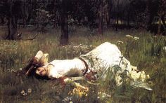 Ophelia John William Waterhouse (1889) #dailyart