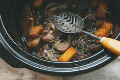 My slow-cooked beef dish with old pumpkin.  I bought organic beef on spesh in bulk and had it in the freezer.  I used my veggie stock as a b...