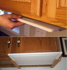 Kitchen Decor By finding inexpensive kitchen storage ideas, making things accessible, organizing by the type of items and getting rid of all the things you do not use, you may become the Diy Kitchen Storage, Kitchen Redo, Kitchen Pantry, Kitchen Hacks, New Kitchen, Country Kitchen, Kitchen Themes, Under Cabinet Storage, Storage Cabinets