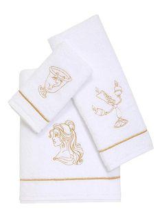 Disney Beauty And The Beast 3 Piece Bath Towel Set,