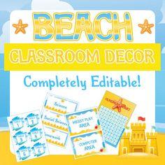 Beach Theme Classroom Decor/ Decorations Package