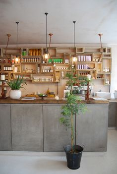 maybe not as intricate but nice idea for the kitchen to tie into the concrete downstairs