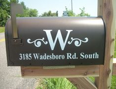 So much nicer than the boring letters on most mailboxes.