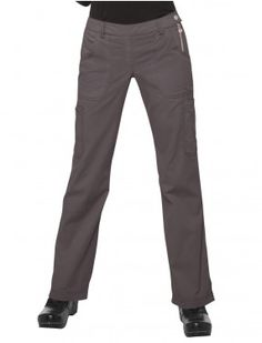 koi Sara Pant Flared legs and a flat front Elastic back waist and side zipper entry Two hip pockets, one coin pocket, two cargo pockets and one cell phone pocket cotton, polyester soft twill 709 Uniform Advantage, One Coin, Medical Scrubs, Scrub Pants, Koi, Fashion Brands, Pants For Women, Breeze