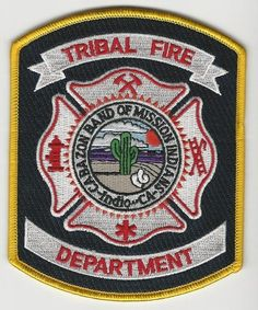 Cabazon Band of Indians Tribal Fire Department patch State California CA