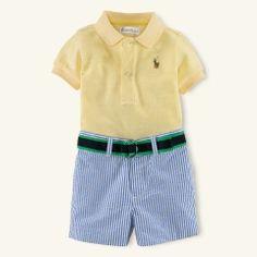 Mesh Polo & Short Set - Layette Outfits & Gift Sets - RalphLauren.com