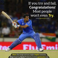 Image may contain: 1 person, playing a sport and text Motivational Quotes For Success, Positive Quotes, Inspirational Quotes, Random Quotes, Motivation Quotes, Reality Quotes, Life Quotes, Qoutes, Ms Dhoni Photos