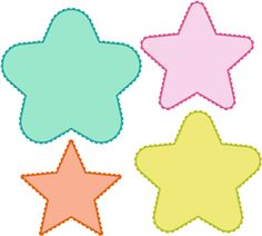 Silhouette Online Store - View Design #14198: 8 piece star and scalloped mat set