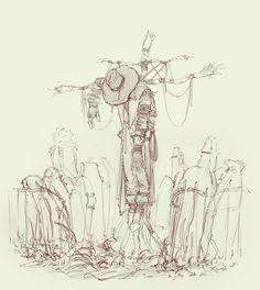 Scarecrow Sketch by MrFr2eman on DeviantArt