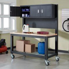 Whalen Industrial Metal And Wood Workbench Costco Uk