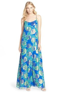 Lilly+Pulitzer®+'Dusk'+Print+Silk+Blend+A-Line+Maxi+Dress+available+at+#Nordstrom