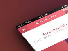 Soundboard iOS App by Simon Busborg