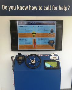The Community Safety department of the RNLI have an interactive VHF/DSC/AIS display on their stand at the Southampton Boatshow, featuring our radio equipment.