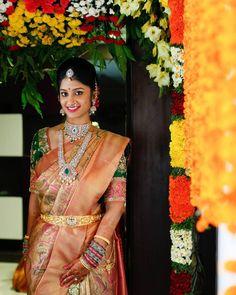 A Glam Hyderabadi Wedding With Stunning Outfits - Rohima Pasupulati - internationally inspired Telugu Brides, Telugu Wedding, Saree Wedding, Wedding Bride, Wedding Bells, Wedding Decor, Wedding Tips, South Indian Weddings, South Indian Bride