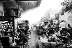 Each and every morning, around six o'clock, Ubud's morning street market begins to roll