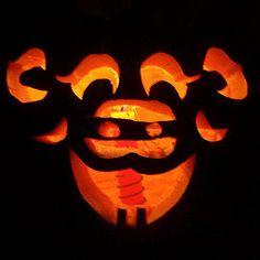 Pig Carved Pumpkin
