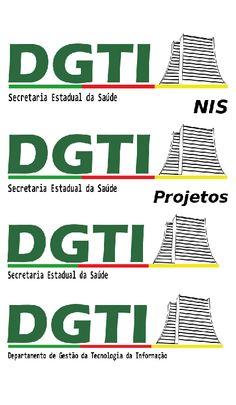 """Logos do """"Departamento de Gestão da Tecnologia da Informação"""" da Secretaria Estadual da Saúde do RS.   Produzido no Inkscape em 2015."""