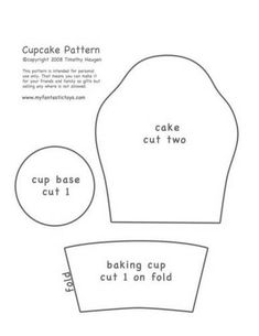Free Felt Craft Patterns | Cut out felt from pattern pieces in your favorite flavor and cup color ...