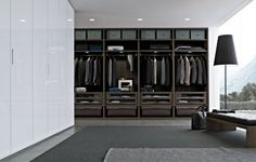 Just recently Interior Design tell the results of their Best Of Year Product Design Award One of the winner was walk-in closet system by Poliform Closet Walk-in, Bedroom Closet Doors, Bedroom Wardrobe, Closet Storage, Closet Ideas, Closet Small, Closet Organization, Black Closet, Storage Shelving