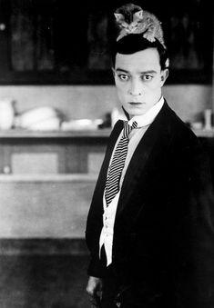 Buster Keaton & kitty (please follow minkshmink on pinterest)