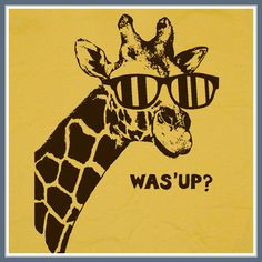 Giraffe T Shirt Was What's Up Funny Animal Zoo The Hangover Humor mens womens Tee on Etsy, $12.00