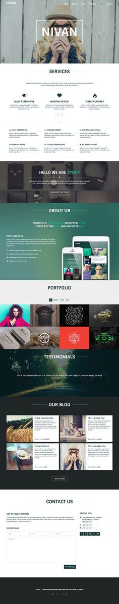 Nivan - a portfolio WordPress theme