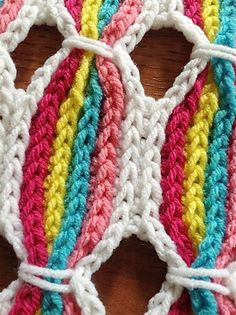Botón de fieltro - Crochet Patterns Colorful: :: palillo del caramelo del patrón del ganchillo Manta ::
