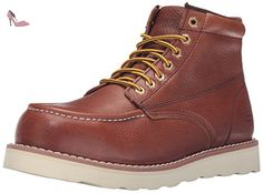 Skechers for Work Pettus Grafford Bottes Homme, Rouge Marron - Chaussures skechers (*Partner-Link)