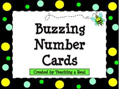 {FREEBIE} Have fun using these bee themed/polka dot number cards!Use these on you classroom calendar or as a way to organize student materials by number....