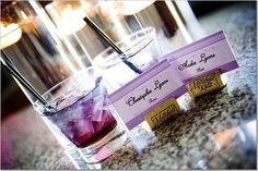 Purple Signature Drink (Purple Heaven):  1/2 oz Blue Curacao liqueur  1 oz Malibu® coconut rum  Sprite® soda  grenadine syrup  1 raspberry (optional...we did not use this)
