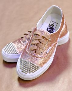 "Craft homemade glittered sneakers with this how-to from Erica Chan Coffman on ""The Martha Stewart Show."""