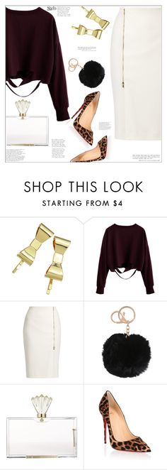 """Burgundy"" by mycherryblossom ❤ liked on Polyvore featuring MaxMara, Charlotte Olympia, Christian Louboutin, burgundy, polyvoreeditorial and polyvorestyle"