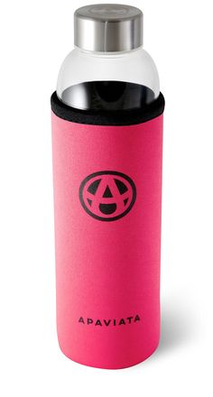 The perfect Glass Water Bottle with Neoprene Sleeve for increasing your water intake & energy – from Amazon