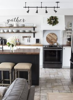 What's New In Fixer Upper Farmhouse Home Decor Volume 20 - The Cottage Market; farmhouse style kitchen; country kitchen ideas