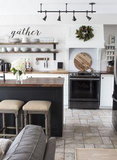 What's New In Fixer Upper Farmhouse Home Decor Volume 20 - The Cottage Market; farmhouse style kitchen; country kitchen ideas