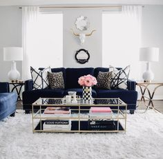 Loving the way that has incorporated our faux cow skull into her gorgeous living room space. Loving the way that has incorporated our faux cow skull into her gorgeous living room space. Decor, Living Room Decor Apartment, Living Room Designs, Apartment Living Room, Glam Living Room, Living Decor, Room Decor, Apartment Decor, Gold Living Room