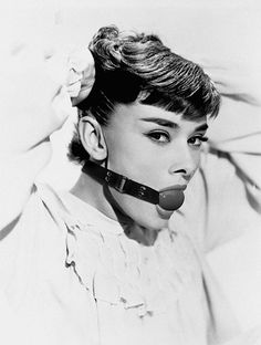 My Audrey  BDSM ---> SoSexyyy  -Throw a slave collar, cuffs and spreader on her and perfection achieved; My thoughts exactly.