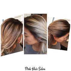 Color correction done at Posh with no damage! Using #b3 #brazilianbondbuilder #darkroots #greyhair #grayhair #beforeandafter #haircolor #joico #schwarzkopf #modernsalon #americansalon #behindthechair #ombre #balayage #highlights #blonde #nyc #posh #poshhairsalonnyc #queens #lic #maspeth #astoria #woodside #sunnyside #hair