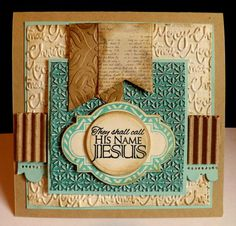 Card by DJRants using Unto Us from Verve.  #vervestamps